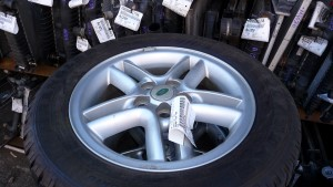 Custom wheel and tire at Brewster Auto
